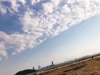 福岡 潮干狩り 干潮 空の写真・画像素材[4460123]
