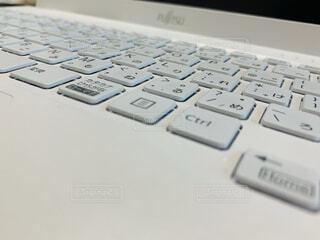 コンピュータキーボードのクローズアップの写真・画像素材[4460198]
