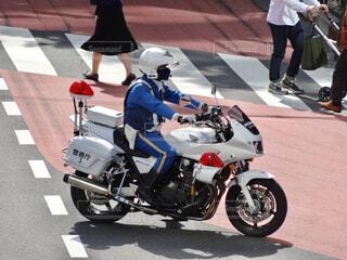 警視庁 第三交通機動隊 白バイの写真・画像素材[4468164]