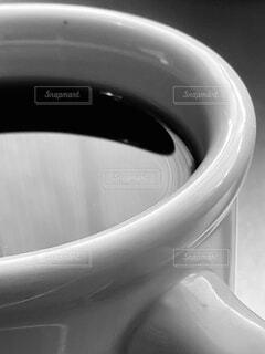 コーヒー/マグカップ④ (モノクロ)の写真・画像素材[4542056]