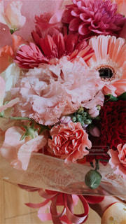 成人式に頂いたお花の写真・画像素材[3091381]