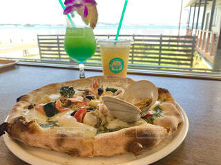 海の前で食べれる海の幸 ~シチノカフェ~の写真・画像素材[4519114]
