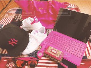 ピンクの集合の写真・画像素材[4547856]