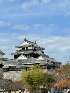 建物の上にある城の写真・画像素材[4471662]