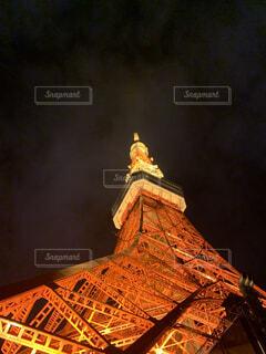 夜の東京タワーの写真・画像素材[4483571]