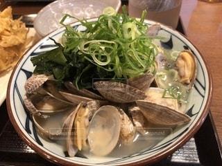 丸亀製麺にて🍜あさりうどんの写真・画像素材[1146619]