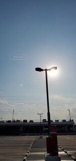 電柱のクローズアップの写真・画像素材[4471156]