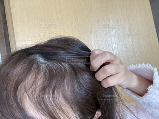 くせ毛の写真・画像素材[3882972]