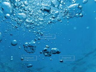 水中から見る空気の泡たちの写真・画像素材[4512809]