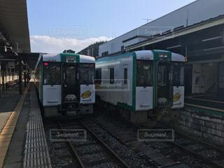 列車が駅に引いての写真・画像素材[901635]