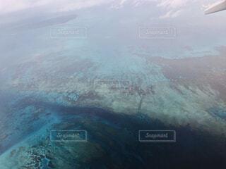 飛行機から見える絶景の写真・画像素材[4525367]