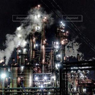 いわゆる工場夜景の写真・画像素材[196886]