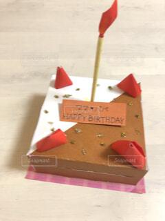 子供の手作りケーキ♡の写真・画像素材[4551866]