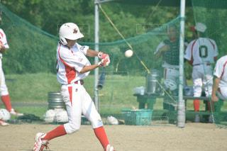 野球選手がサッカー ゲームのグループの写真・画像素材[730407]