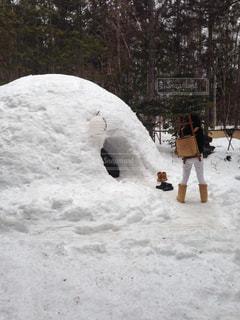 自然,冬,雪,かまくら