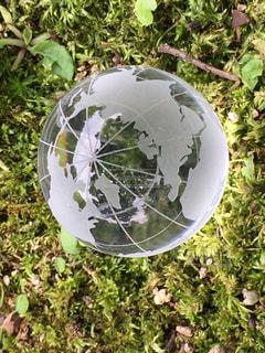 ガラスの地球儀の写真・画像素材[752204]