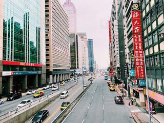 にぎやかな街道のクローズアップの写真・画像素材[4507594]