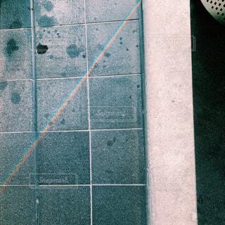 タイル張りの壁のクローズアップの写真・画像素材[4507884]