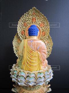 彩色の仏像の写真・画像素材[4513965]
