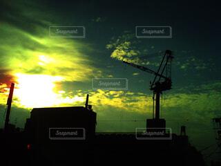 日没の工事の写真・画像素材[4541444]