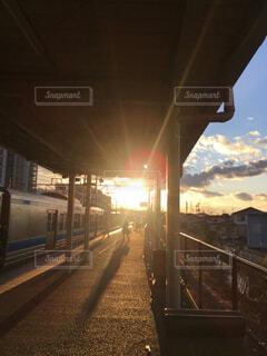 夕日が沈む頃にの写真・画像素材[4369259]