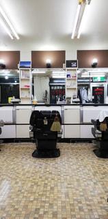 昔ながらの散髪屋の写真・画像素材[2815190]