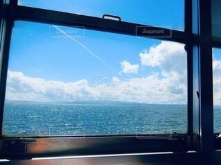 車窓越しの絶景の写真・画像素材[4636151]