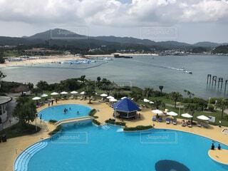 沖縄のホテルからの眺めの写真・画像素材[4533271]