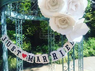 結婚式 花 ガーデン パーティ ホワイト おしゃれの写真・画像素材[198669]
