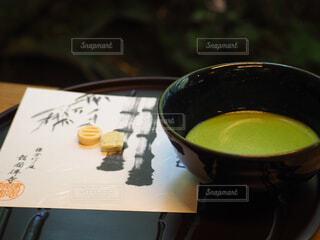 抹茶と小菓子の写真・画像素材[4523223]