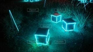幻想的なキューブの写真・画像素材[4526857]