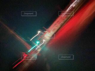 夜空のぼやけたイメージの写真・画像素材[4525503]