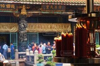 台北の龍山寺の写真・画像素材[4541507]