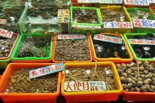 台湾の海鮮市場の写真・画像素材[4541520]