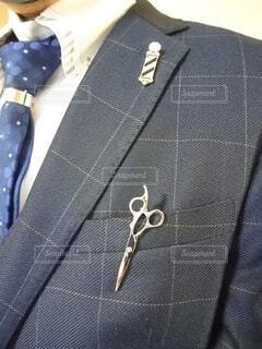床屋のスーツ姿の写真・画像素材[4538568]