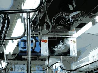 扇風機のある電車の写真・画像素材[4543445]
