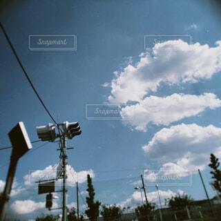 信号のクローズアップの写真・画像素材[4541166]