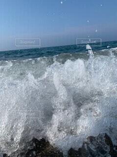 大波の写真・画像素材[4552549]