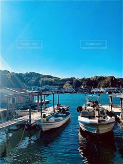 小さな港町の写真・画像素材[4545665]