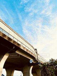 歩道から見た景色の写真・画像素材[4555014]