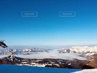 雪山の雲海の写真・画像素材[4555013]