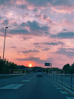 ドライブの帰り道の写真・画像素材[4545482]