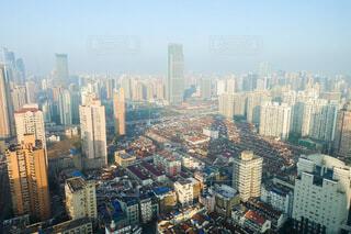 中国 上海 上から見た街の風景の写真・画像素材[4644801]
