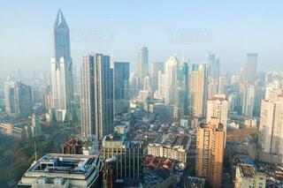 中国 上海 上から見た街の風景の写真・画像素材[4644803]