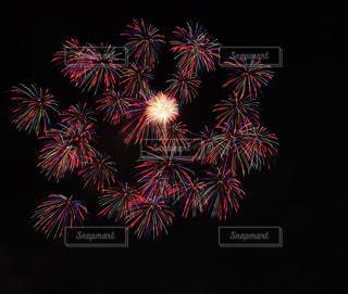 空に花火の写真・画像素材[969254]