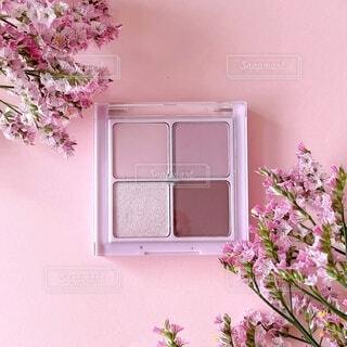 植物に紫色の花を咲かせる花瓶の写真・画像素材[4764518]