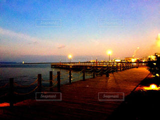 夕方の海辺の公園の写真・画像素材[999678]