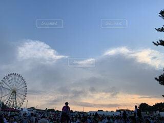 夏フェスの終わりの写真・画像素材[4566363]