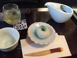 和菓子で一服・夏の写真・画像素材[4566487]