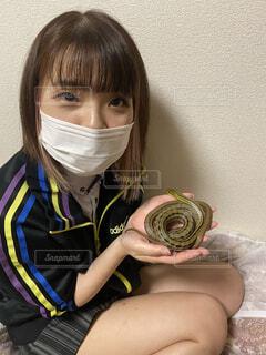 シマへびとギャルの写真・画像素材[4568702]